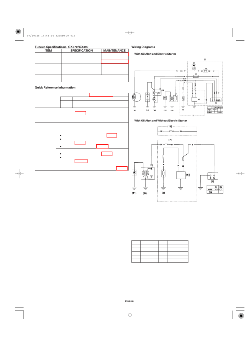 small resolution of tuneup specifications quick reference information wiring diagramstuneup specifications quick reference information wiring