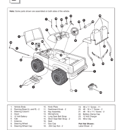 parts diagram fisher price power wheels by fisher price chevrolet silverado b1476 user manual page 6 32 [ 954 x 1235 Pixel ]