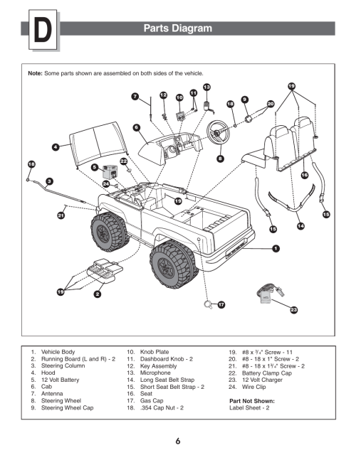 small resolution of parts diagram fisher price power wheels by fisher price chevrolet silverado b1476 user manual page 6 32