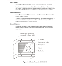 bulb cleaning reflector cleaning screen cleaning fusion f300s user manual page 92 154 [ 954 x 1145 Pixel ]