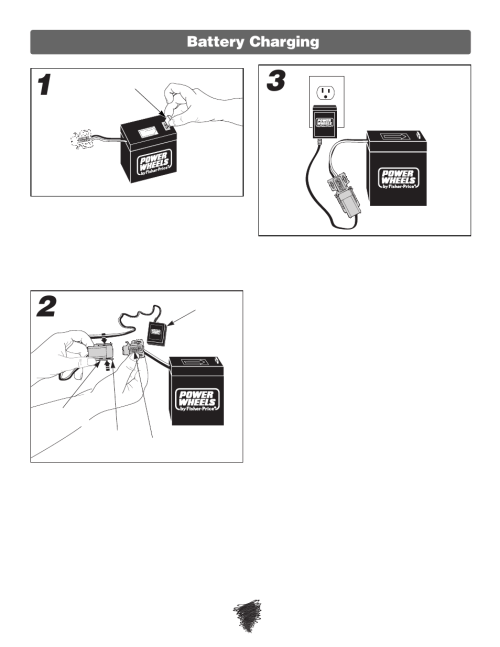 small resolution of battery charging fisher price wild thing 74180 user manual page 8 28