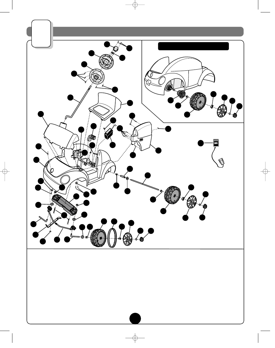 medium resolution of parts diagram fisher price barbie volkswagen new beetle 73517 user barbie vw beetle parts diagram