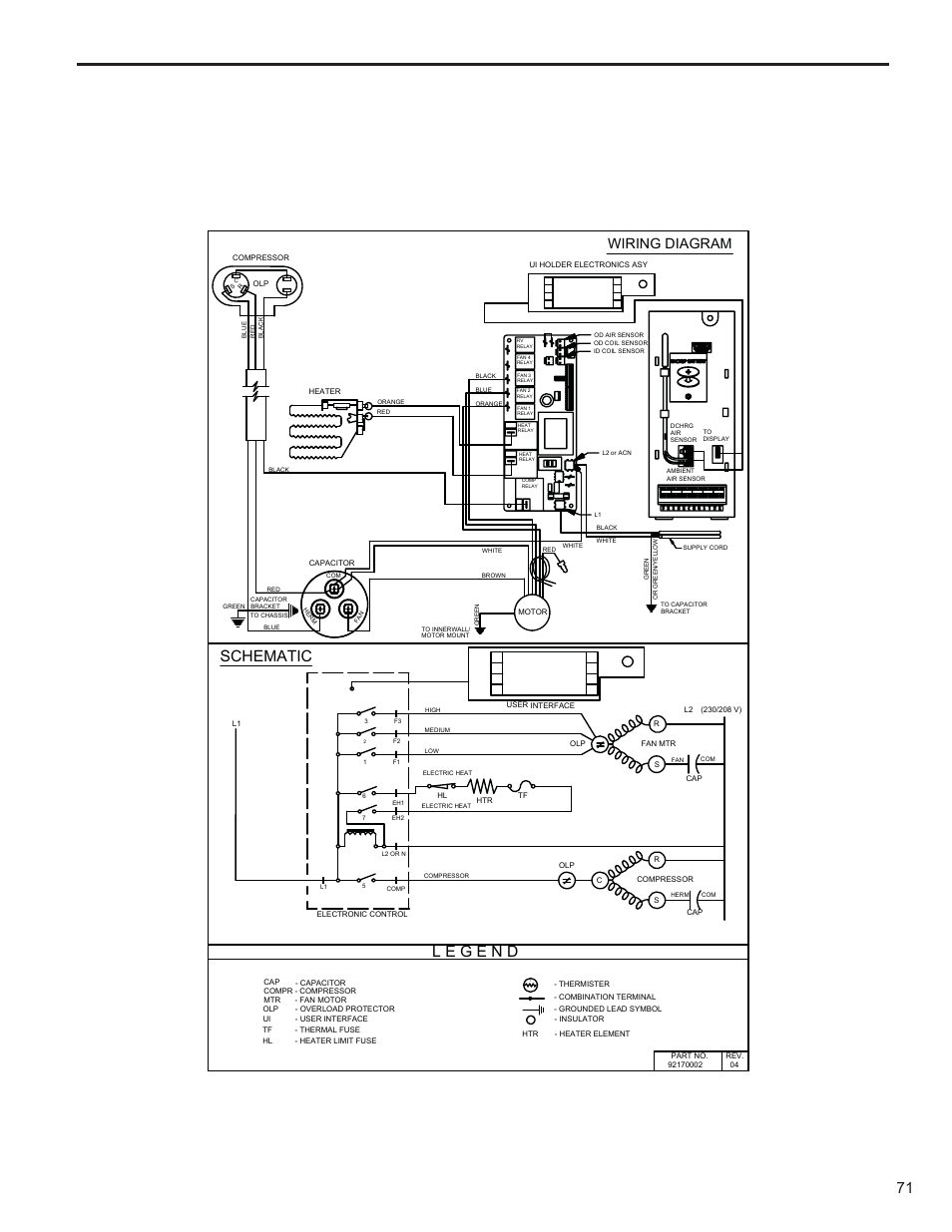 medium resolution of schematic wiring diagram friedrich kuhl r 410a user manual page 72 87