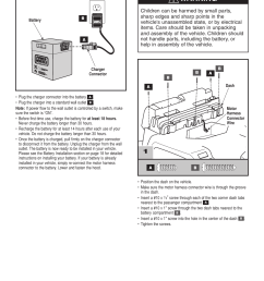 warning 1assembly battery charging fisher price barbie jammin jeep h3427 user manual page 8 28 [ 954 x 1235 Pixel ]