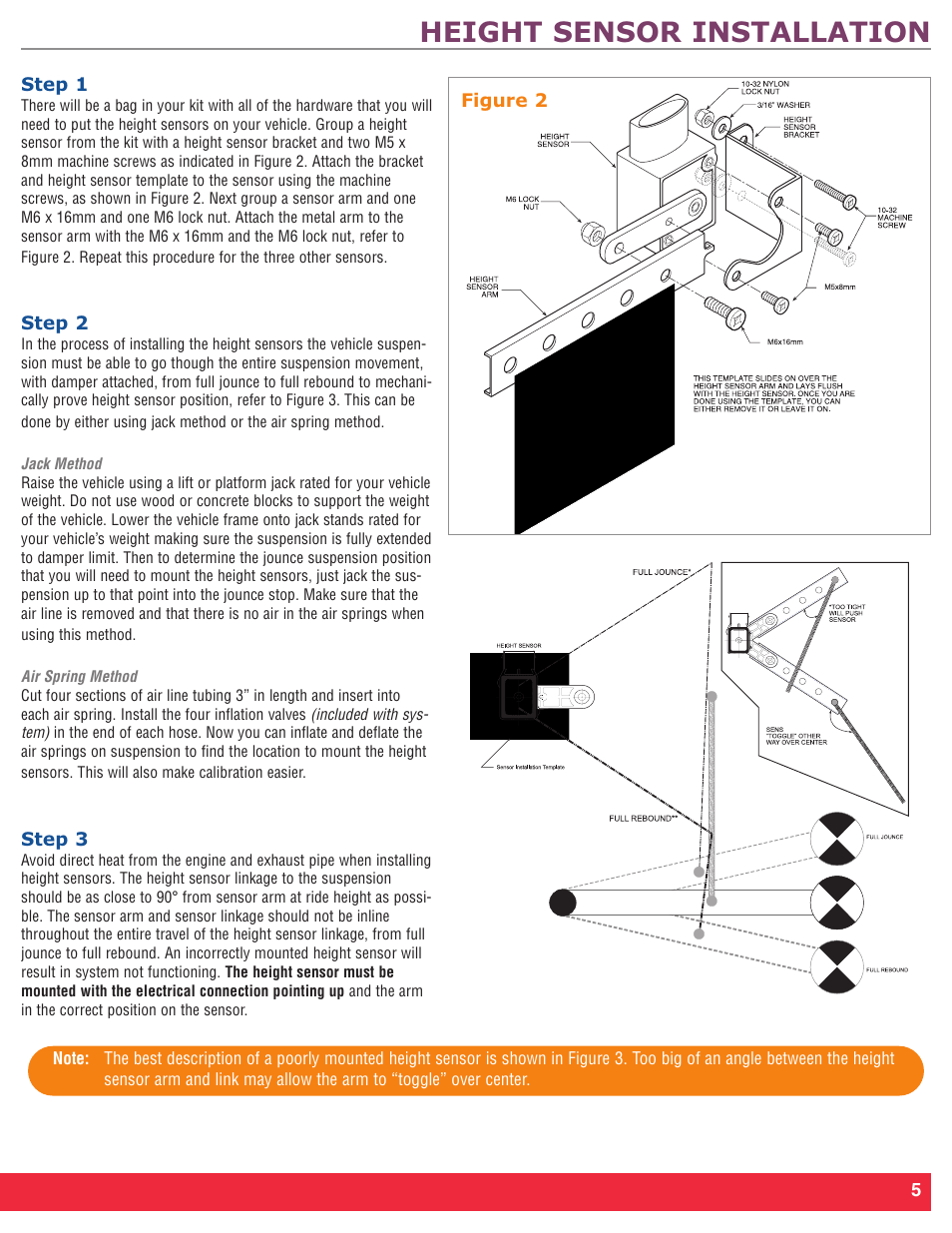 hight resolution of height sensor installation firestone intelli ride 2230 user manual page 9 20