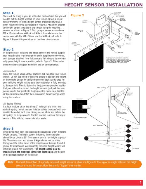 small resolution of height sensor installation firestone intelli ride 2230 user manual page 9 20