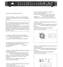 model ph 100 input 10dbv jacks l  [ 954 x 1351 Pixel ]