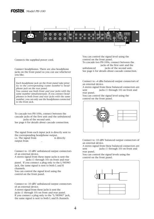 small resolution of model ph 100 input 10dbv jacks l