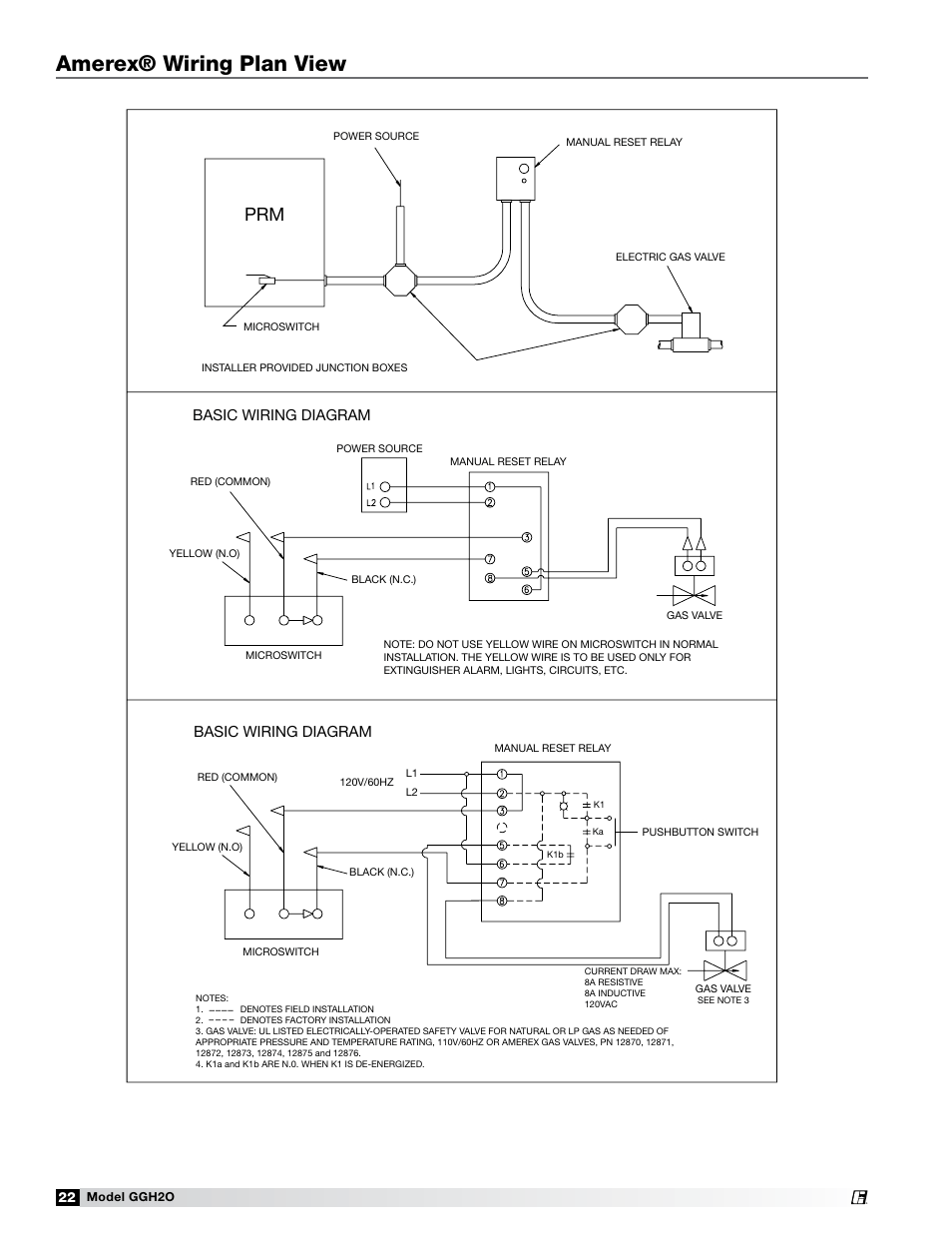medium resolution of amerex wiring plan view basic wiring diagram greenheck fan grease grabber h2o auto cleaning hood ggh20 user manual page 22 28