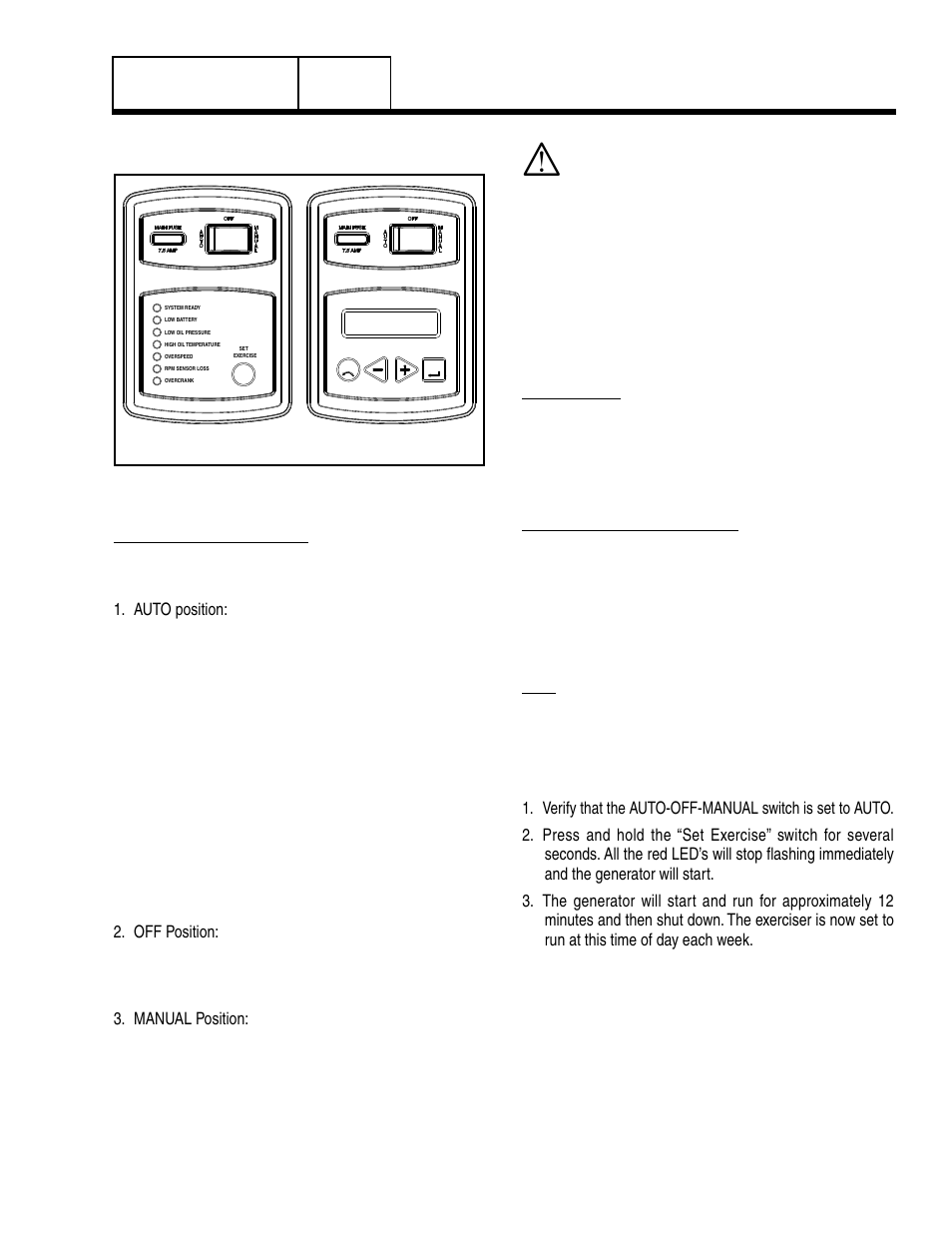 7 operating instructions, Control panel, Operating
