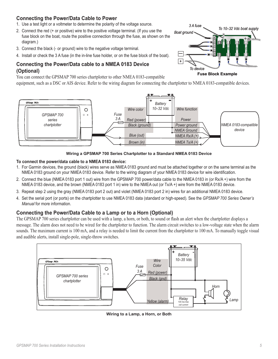 medium resolution of connecting the power data cable to power garmin gpsmap 740s user manual page