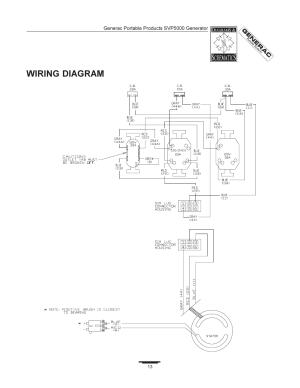 Wiring diagram | Generac SVP5000 97193 User Manual | Page