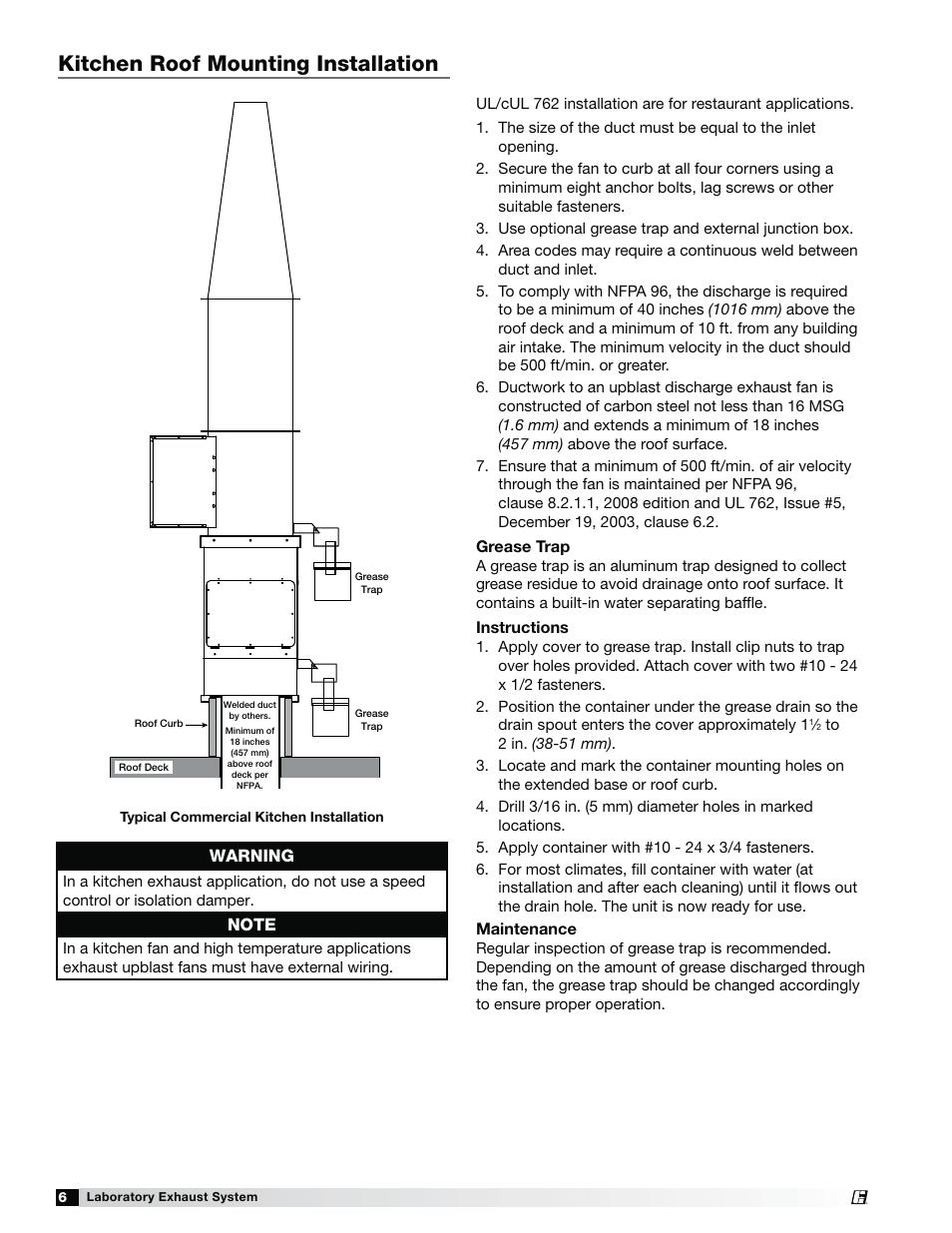 medium resolution of laboratory exhaust fan wiring diagram wiring diagramskitchen roof mounting installation warning greenheck fan laboratory exhaust