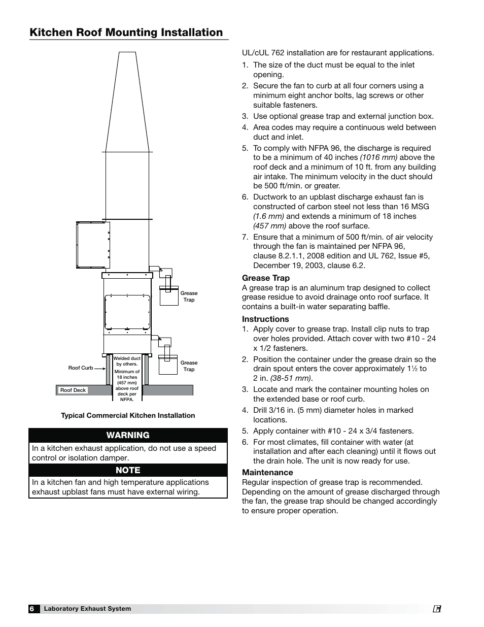 hight resolution of laboratory exhaust fan wiring diagram wiring diagramskitchen roof mounting installation warning greenheck fan laboratory exhaust