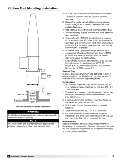 small resolution of laboratory exhaust fan wiring diagram wiring diagramskitchen roof mounting installation warning greenheck fan laboratory exhaust