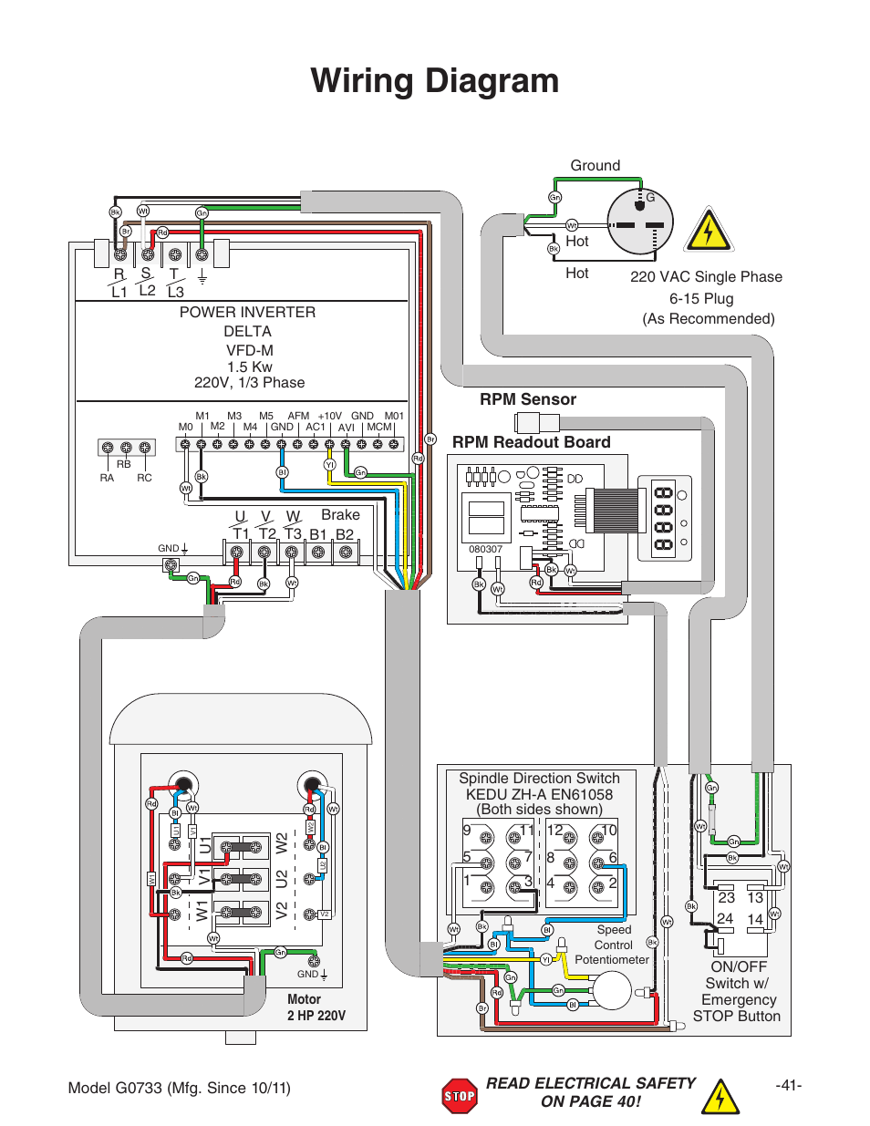 220v single phase plug wiring diagram clio 2 airbag diagram, rpm sensor readout board | grizzly 18