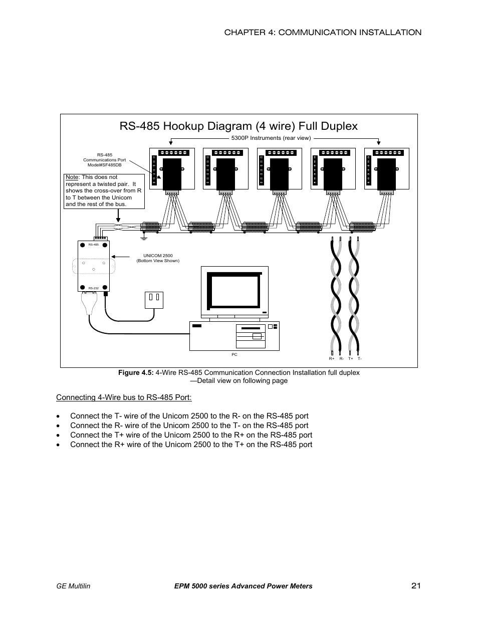 hight resolution of rs 485 hookup diagram 4 wire full duplex ge epm 5200 user manual page 25 100