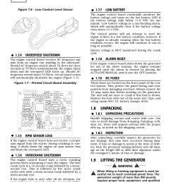 8 unpacking 9 lifting the generator 4 overspeed shutdown generac power systems 004988 1 user manual page 8 48 [ 954 x 1235 Pixel ]