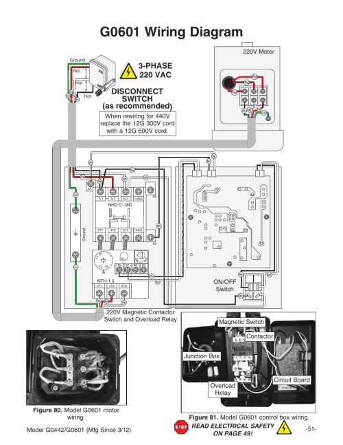 small resolution of g0601 wiring diagram disconnect switch as recommended 3 phase 220g0601 wiring diagram