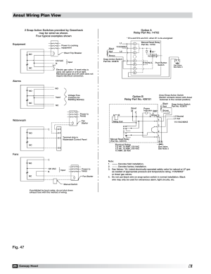 Field wiring for the ansul snapaction switch, Ansul