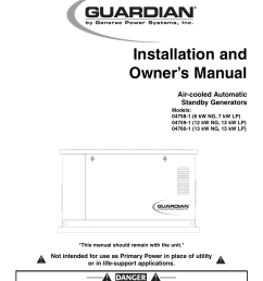 generac power systems 04758 1 user manual 56 pages also for 04759 1 04760 1 [ 954 x 1235 Pixel ]