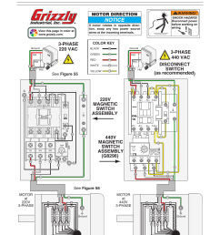 g0673 wiring diagram 220v magnetic switch assembly motor direction grizzly g0673 user manual page 44 56 [ 954 x 1235 Pixel ]