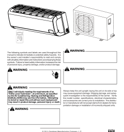 goodman mfg split type room air conditioner and heat pump 000 12 user manual 12 pages also for split type room air conditioner and heat pump msc msh 9  [ 954 x 1235 Pixel ]