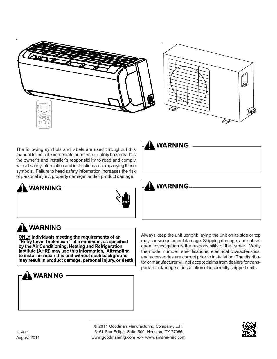 medium resolution of goodman mfg split type room air conditioner and heat pump 000 12 user manual 12 pages also for split type room air conditioner and heat pump msc msh 9