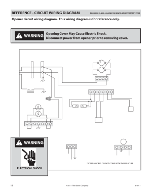 Warning, Reference  circuit wiring diagram, Power cord