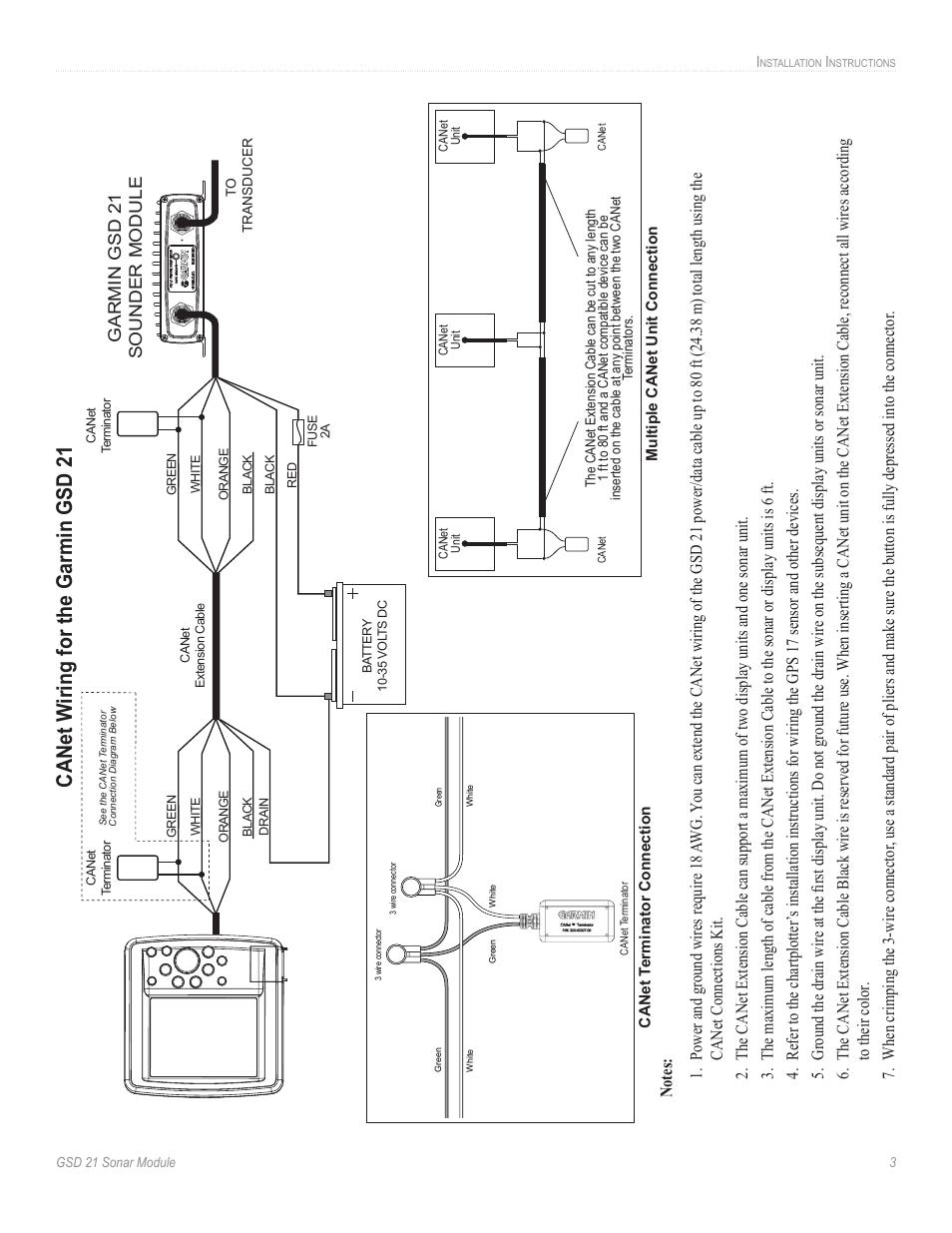 medium resolution of canet w iring for the garmin gsd 21 garmin gsd 21 sounder module rh manualsdir com wiring diagram