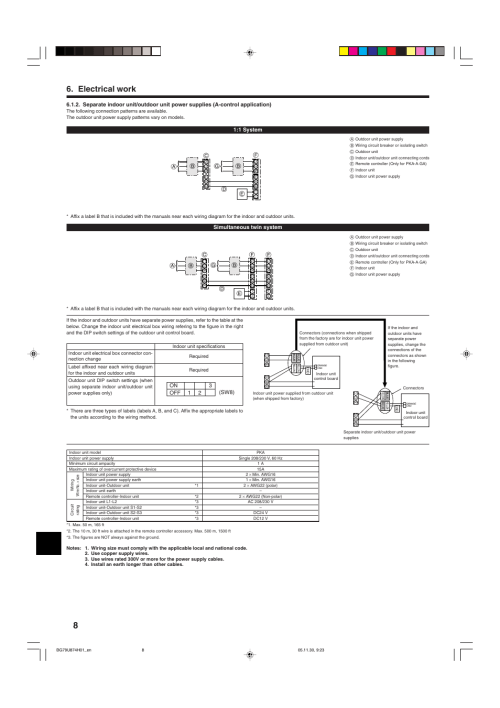 small resolution of electrical work mitsubishi electric mr slim pka a ga user manual