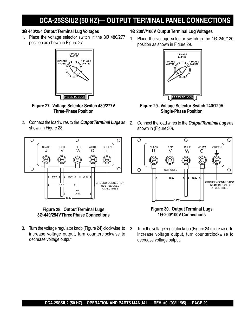 medium resolution of multiquip mq power whisperwatt 50 hz generator dca 25ssiu2 user manual page 29