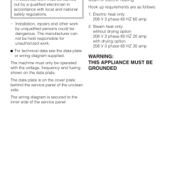 electrical connection 41 electrical connection warning this appliance must be grounded miele [ 954 x 1352 Pixel ]