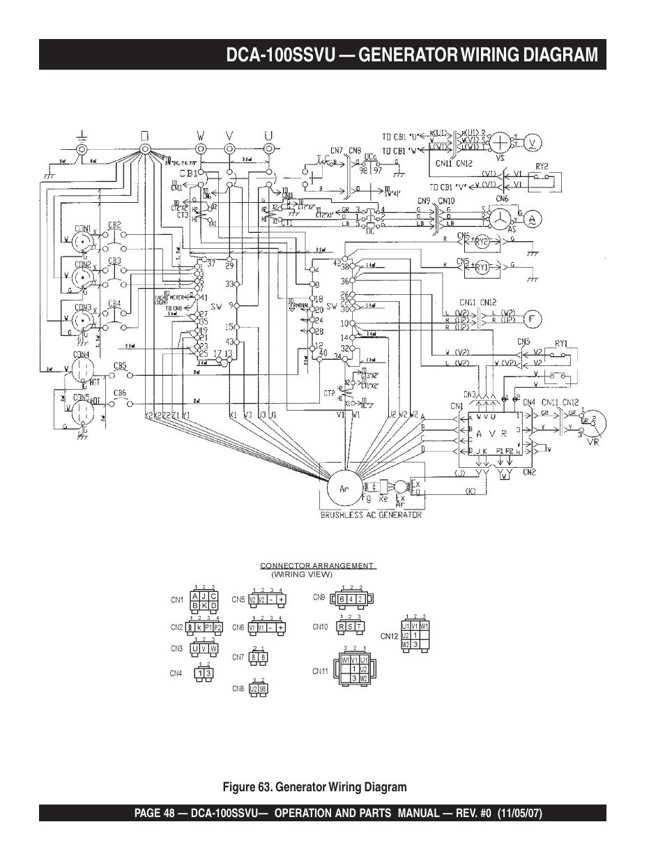 medium resolution of dca 100ssvu generator wiring diagram multiquip mq power whisperwatt 60 hz generator dca