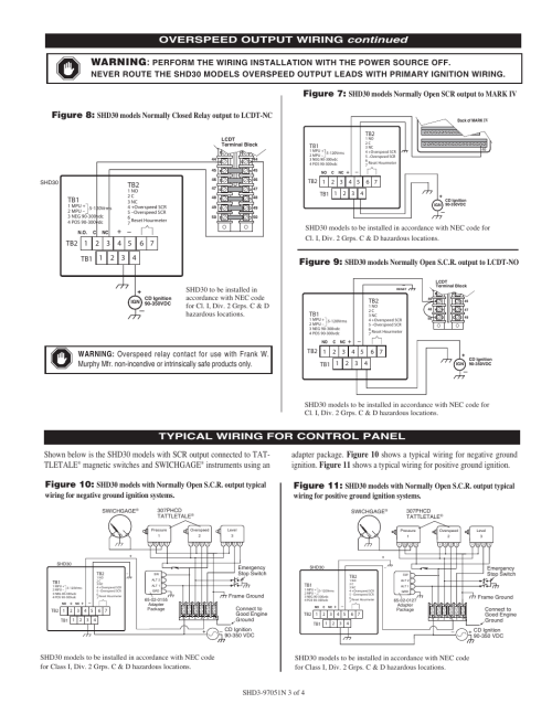 small resolution of warning continued overspeed output wiring figure 8 figure 7 figure 9