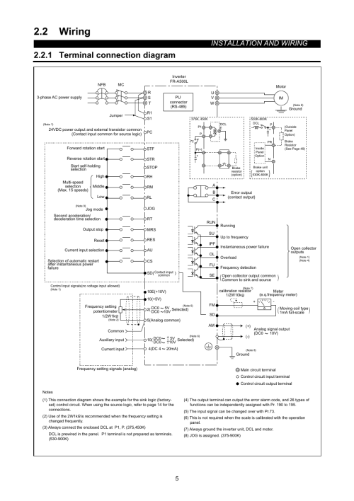 small resolution of 2 wiring 1 terminal connection diagram installation and wiring2 wiring 1 terminal connection
