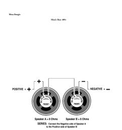 speaker a 8 ohms speaker b 8 ohms series positive negative mesa boogie mark 1 user manual page 16 30 [ 954 x 1235 Pixel ]
