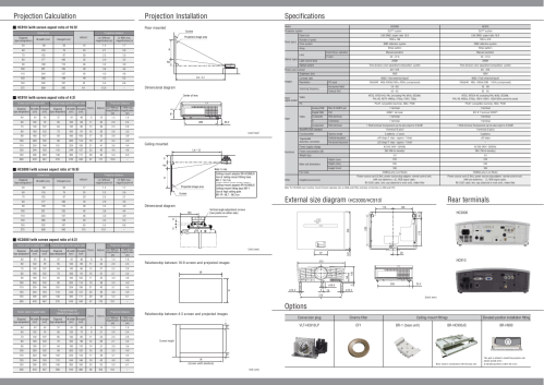 small resolution of specifications options rear terminals mitsubishi electric hc3000 hc910 user manual page