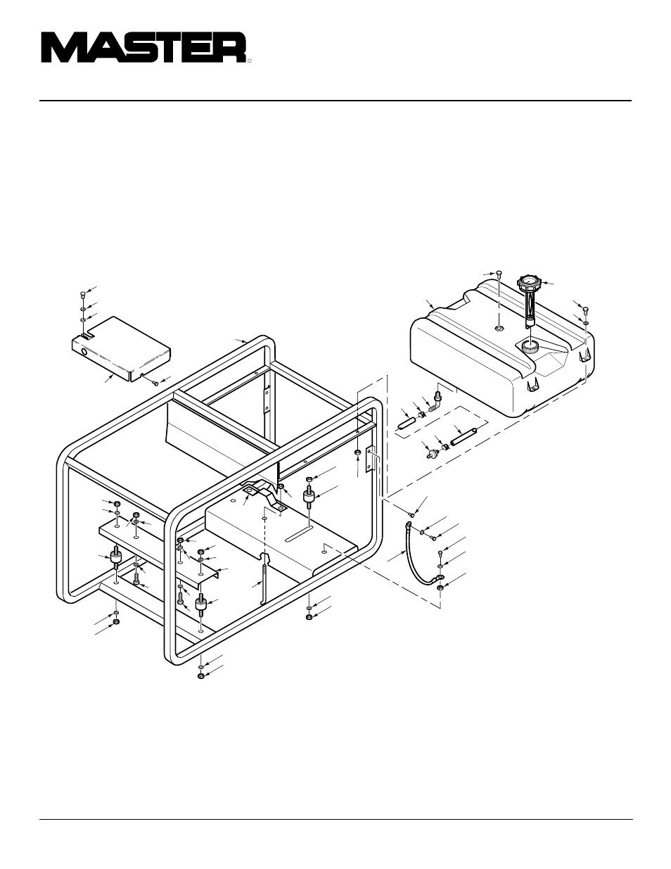 Portable gasoline generators, Illustrated parts list