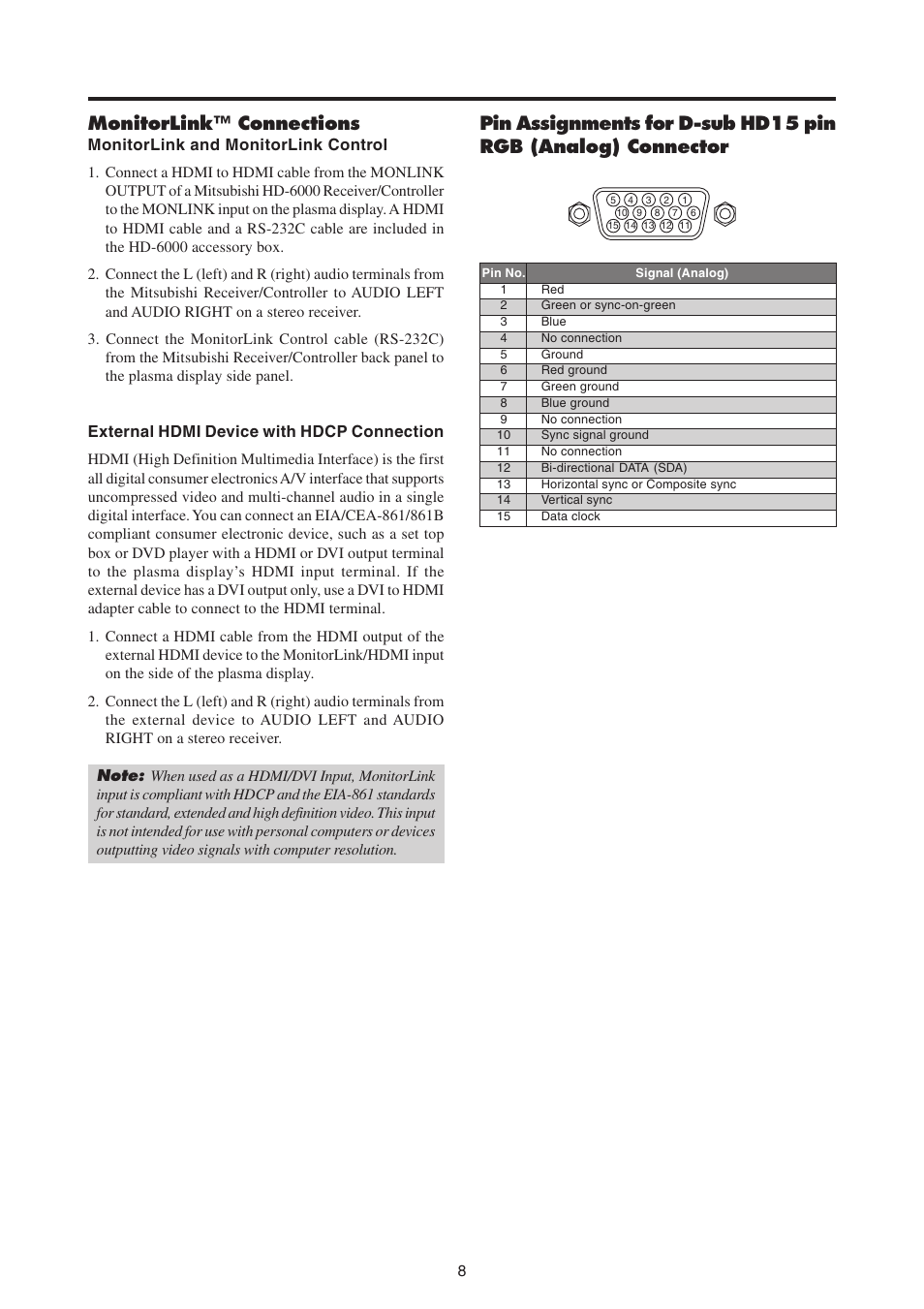 hight resolution of monitorlink connections mitsubishi electric pd 4265 user manual page 17 49
