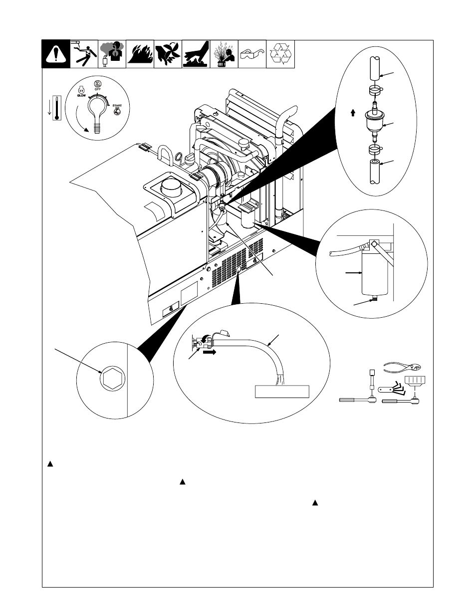 medium resolution of 5 servicing engine lubrication and fuel systems miller electric trailblazer pro 350 user manual page 33 68