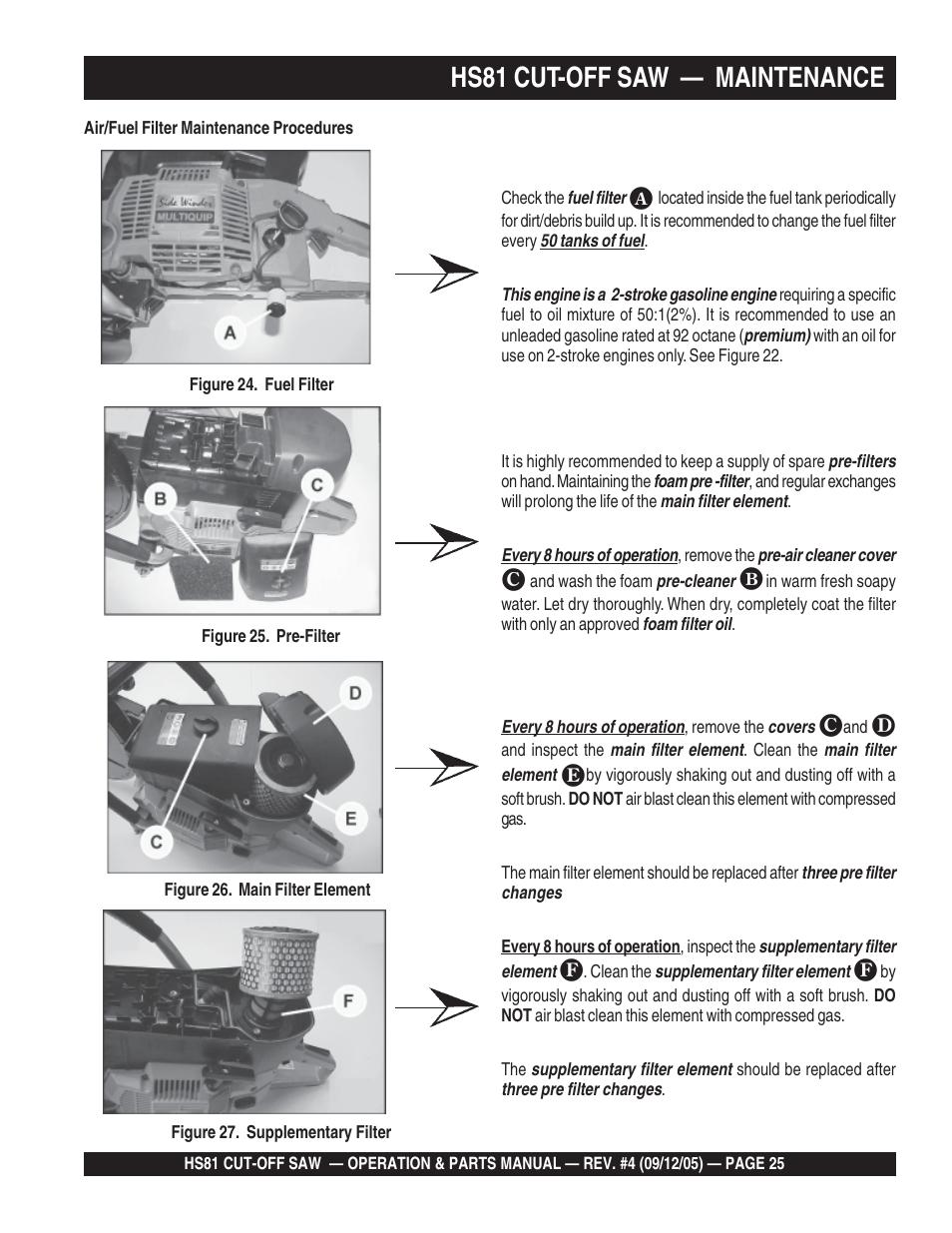 medium resolution of hs81 cut off saw maintenance multiquip sidewinder cut off saw hs81 user manual page 25 68