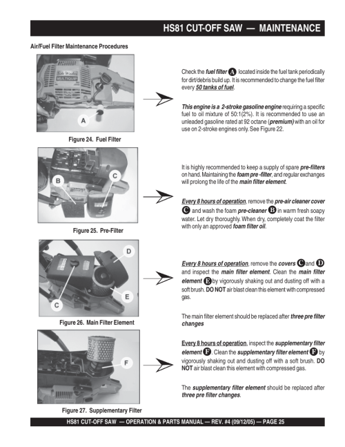 small resolution of hs81 cut off saw maintenance multiquip sidewinder cut off saw hs81 user manual page 25 68