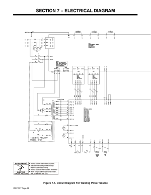 Section 7 − electrical diagram | Miller Electric MILLERMATIC 350P User Manual | Page 52  56