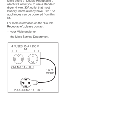 grounding instructions and electrical connection double receptacle miele novotronic w 1903 user manual page 39 44 [ 954 x 1352 Pixel ]