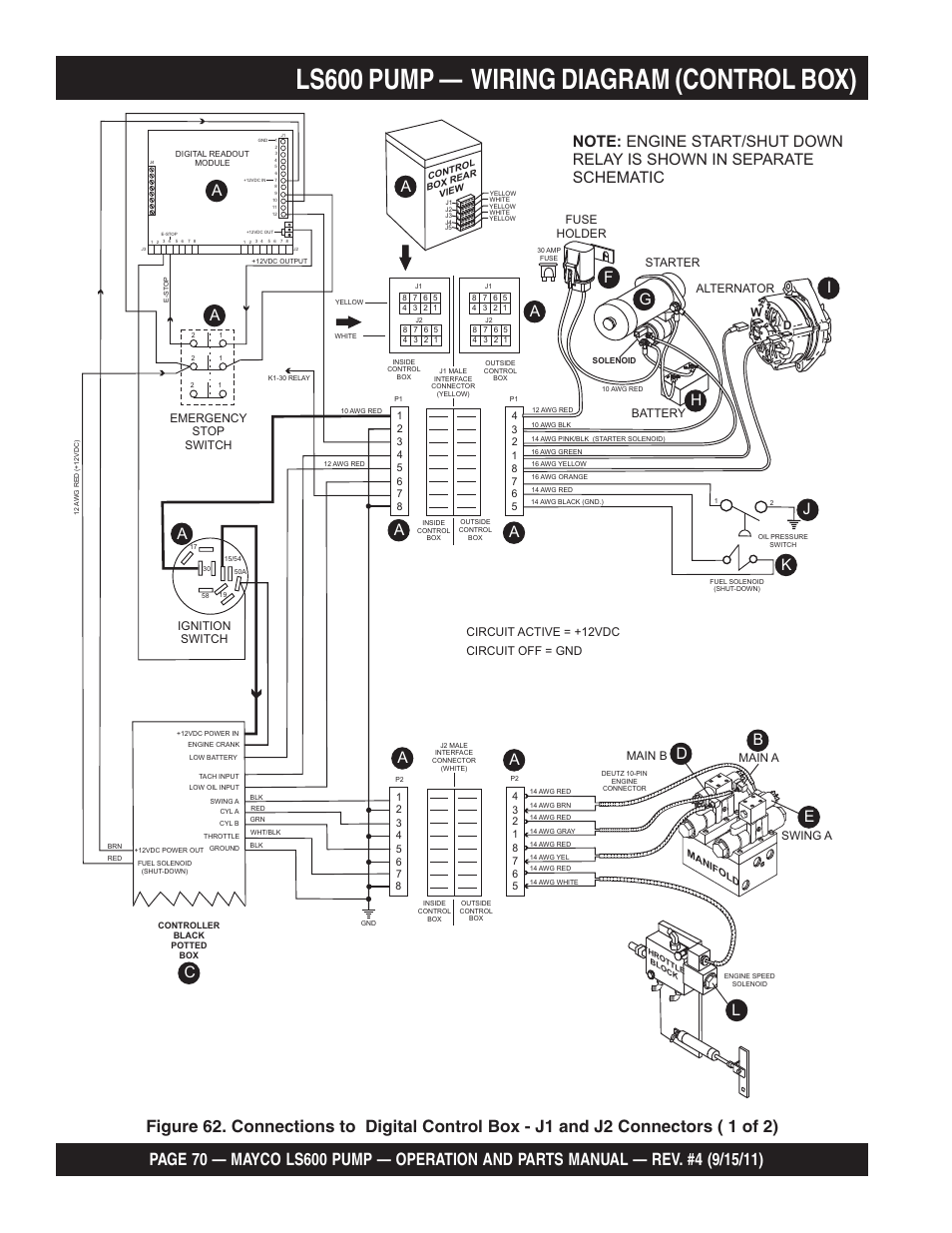 hight resolution of ls600 pump wiring diagram control box bd e e fuse holder multiquip mayco concrete pump ls600 user manual page 70 152