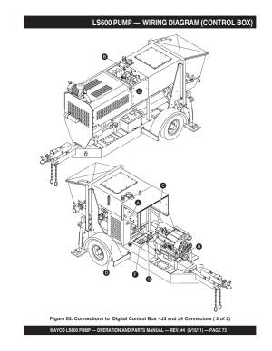 Ls600 pump — wiring diagram (control box) | Multiquip