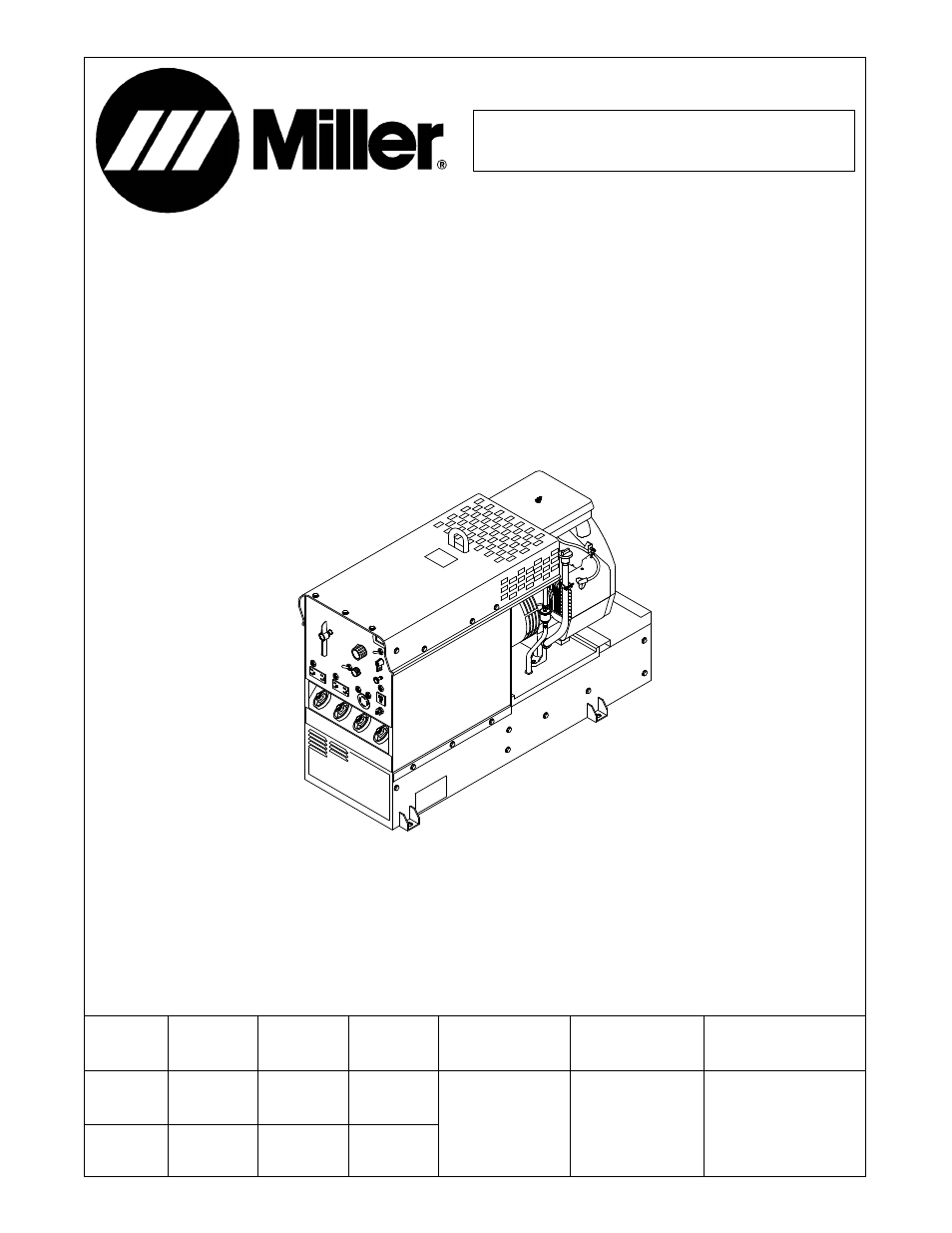 Miller Bobcat 225 Parts Diagram. Wiring. Wiring Diagram Images