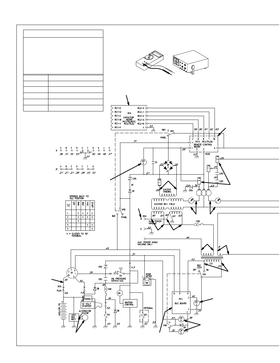 hight resolution of miller electric legend aead 200 le user manual page 24 68 troubleshooting circuit diagram for welding generator miller