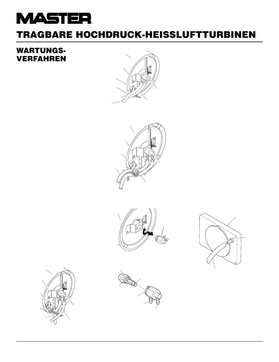 Tragbare hochdruck-heissluftturbinen, Wartungs- verfahren